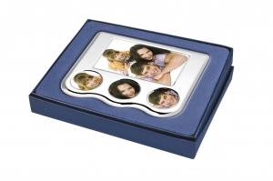Portafoto in silver plated cm.21x18x4h