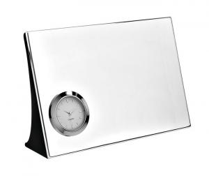 Orologio da scrivania in silver plated cm.18x4,7x12h