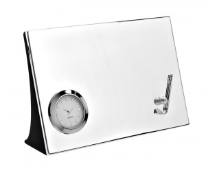 Orologio da tavolo Golf silver plated