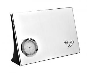 Orologio da tavolo Calcio silver plated