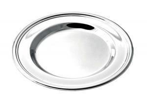 Sottobicchiere placcato argento stile Inglese cm.11,3x11,3x1h diam.11