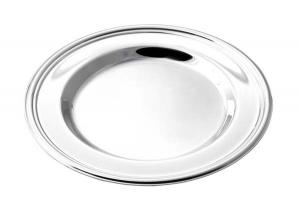Sottopiatto argentato argento silver plated stile Inglese cm.1,5h diam.31