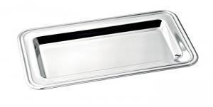 Vassoio rettangolare argentato stile Inglese cm.28x16x15h