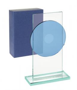 Trofeo piatto blu