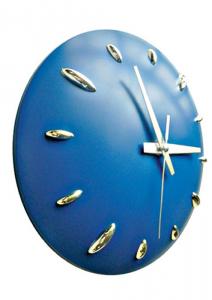 Orologio muro plastica blu