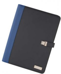 Portablocco a4 blu nero con targhetta cm.32,5x28x1,5h
