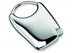 Portachiavi click silver plated cm.5,5x3,5x2h