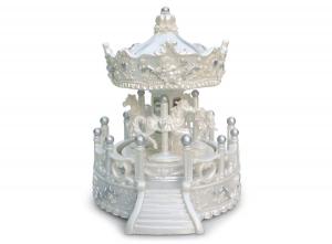 Giostra Carillon angeli bianca argento