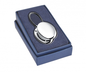 Portachiavi portapillole silver plated