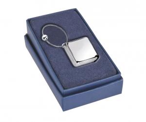Portachiavi con metro silver plated cm.4x4x2h