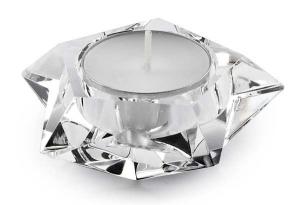 Portacandela stella cristallo cm.3h diam.7,5