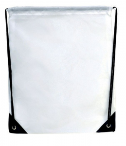 Mini zaino bianco cm.38x32x0,5h