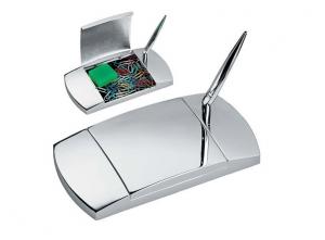 Stiloforo porta clip in silver plated cm.10x17x4h