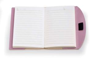 Notebook piccolo rosa cm.15,5x13x1h