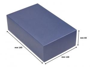 Tappo liscio squadrato in silver plated cm.9,3x3,9x2h