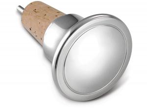 Tappo bottiglia versatore tondo argentato argento silver plated