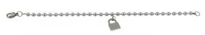 Braccialetto acciaio lucchetto cm.21x3x0,5h