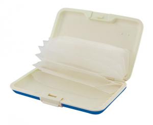 Portabiglietti silicone blu cm.11x7x2h