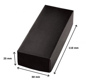 Portachiavi satinato cromato cm.7,6x3,3x1h