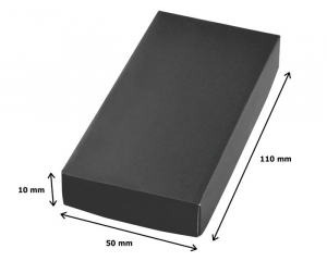 Portachiavi cromato pelle lucido cm.8,8x3,4x1h