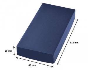 Portachiavi nodo satinato blu cm.7,9x3,1x1h