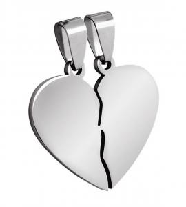 Pendente acciaio cuore cm.2,7x2,6x0,2h