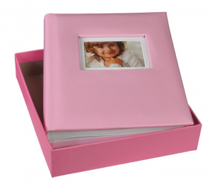 Album portafoto rosa 30 fogli