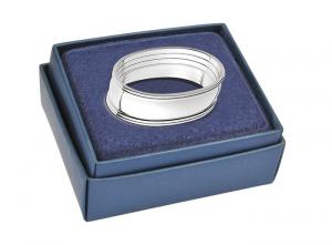 Portatovagliolo ovale in silver plated 1 pezzo stile Inglese