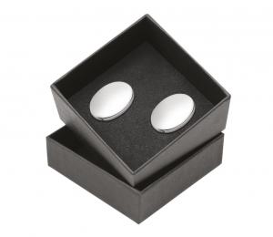 Gemelli ovali argentati argento set 2 pezzi