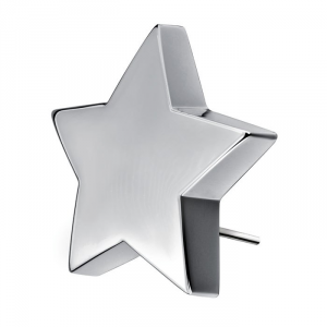 Fermacarta stella in silver plated placcato argento cm.10,7x10,2x3h