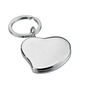 Portachiavi Cuore con portafoto silver plated
