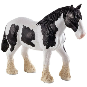 Statuina Animal Planet Cavallo Clydesdale bianco e nero