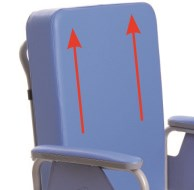 Sedia comoda con autospinta anteriore