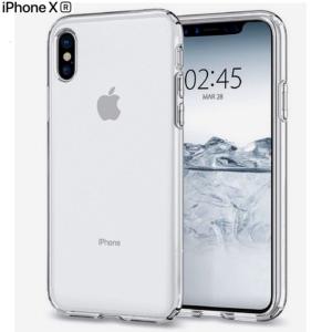 Cover Trasparente x iPhone X XR Custodia Fronte Retro 360 Full Body TPU o PANNO