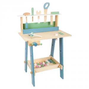 Banco da lavoro giocattolo in legno con accessori Nordic
