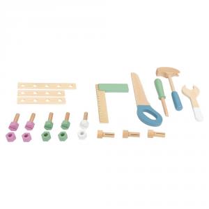 Banco da lavoro giocattolo in legno con accessori Nordic Compatto