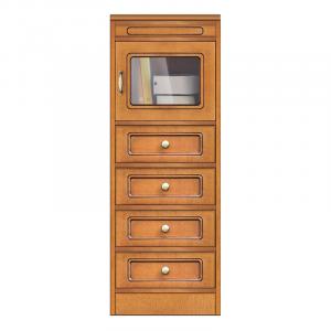 Collezione 'Compos' - Modulo 4 cassetti e anta in vetro