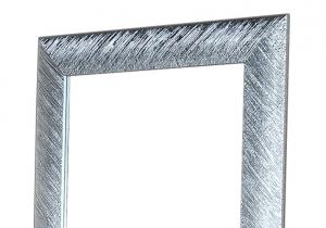 Specchiera foglia argento brillante