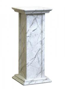 Colonna portavasi finitura marmo