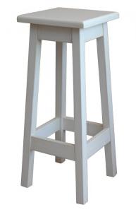 Sgabello in legno massello seduta quadrata