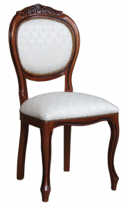 Sedia classica schienale con intaglio