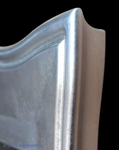 Composizione ingresso consolle e specchio foglia argento