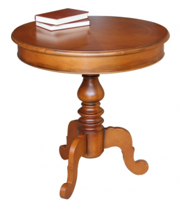 Tavolino rotondo con intarsio