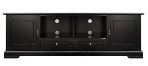 Base porta tv nera per soggiorno