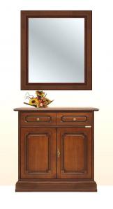 Credenza con specchio in legno massello