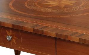 Tavolino intarsiato rettangolare da salotto 1 cassetto