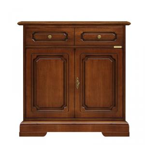 Credenzina classica in legno 2 porte 1 cassetto