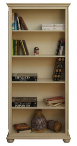 Libreria a giorno bianco patinato 4 ripiani