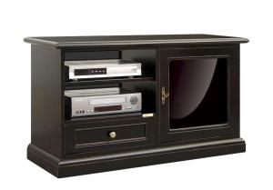 Porta TV nero anta metacrilato colato nero