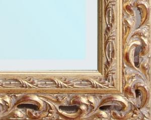 Specchiera rettangolare foglia oro classica